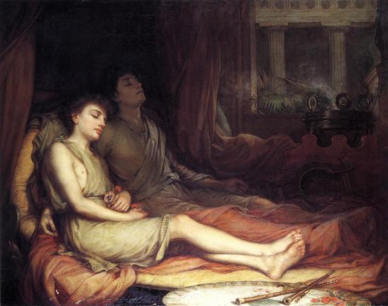 John William Waterhouse - Hypnos and Thanatos. 1874. jpg