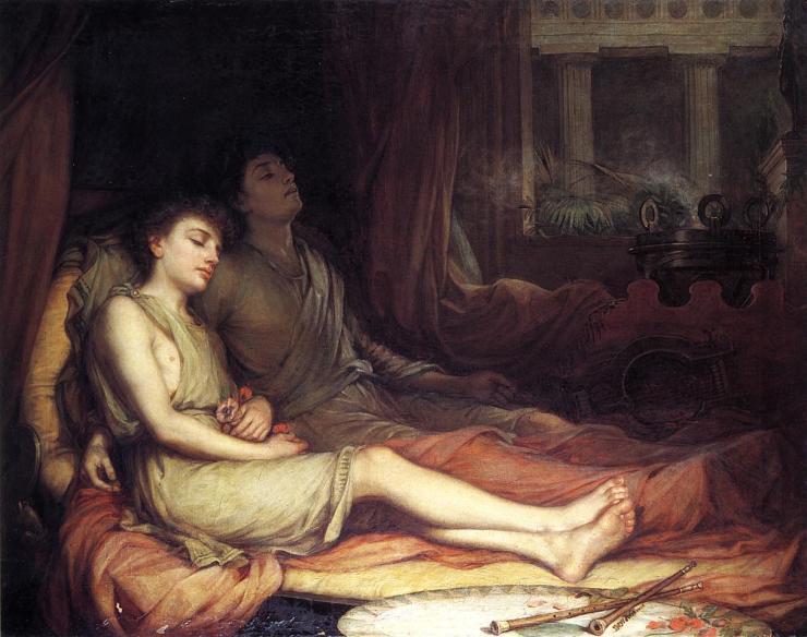 John William Waterhouse - Hypnos and Thanatos. 1874. jpg